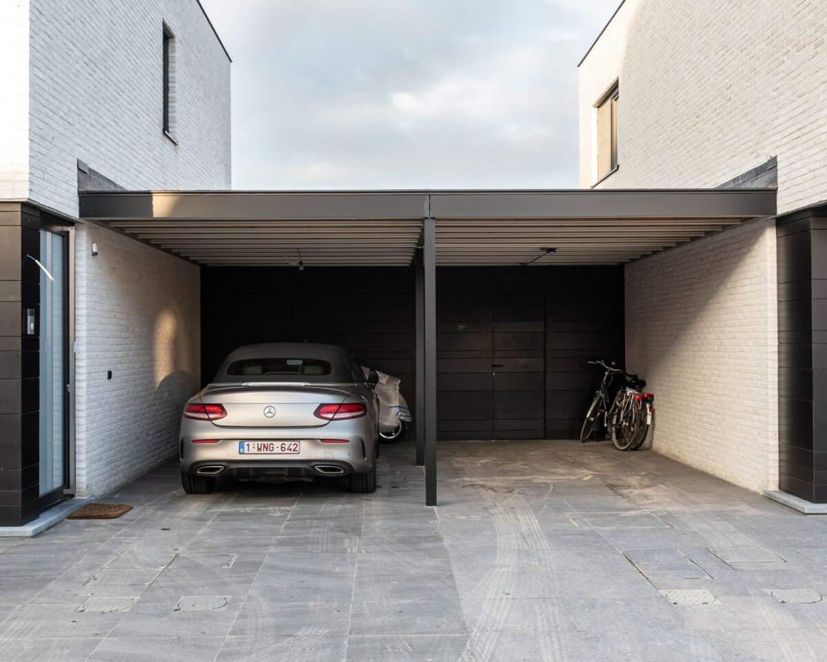 dubbele carport in rockpanel